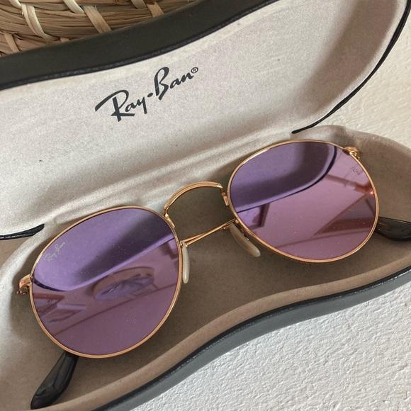 Gold & Lilac Ray Ban Sunglasses